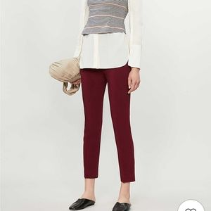 JOSEPH New Eliston stretch pants in cranberry